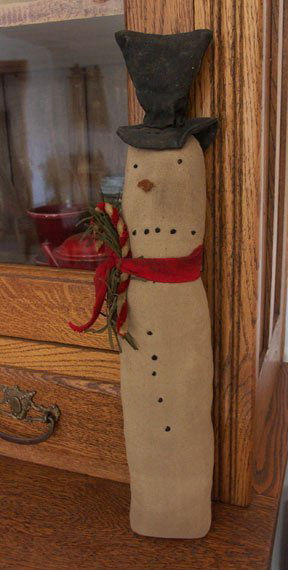 Crock Snowman - Handmade