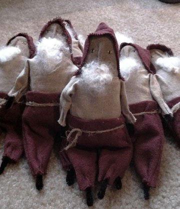 Primative Santa Tucks - Handmade