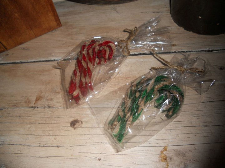 Set of 10 Candy Canes - Handmade